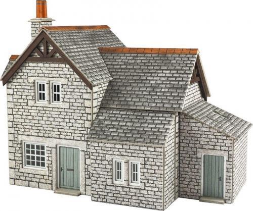 6 Station Plaform Buildings Set HO//OO and N Gauge Card Kit Railway